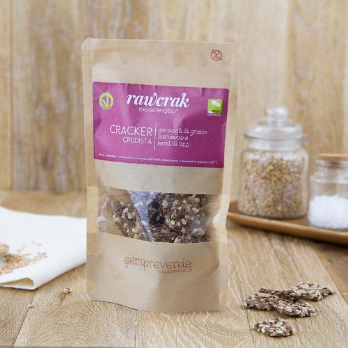 Cracker crudista ai germogli grano saraceno e lino BIO