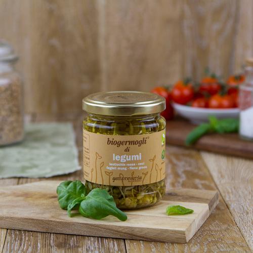 Germogli di legumi sott'olio BIO